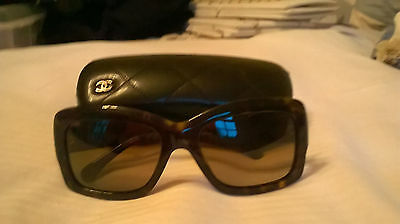 Genuine Chanel sunglasses & case, hardly used. Cost £235