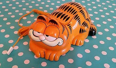 Vintage Garfield The Cat Telephone Phone - Unique Retro Quirky