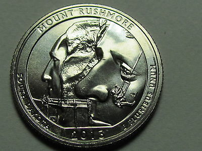 2013 S - Mount Rushmore National Park Quarter Dollar