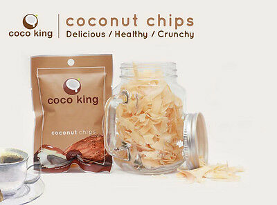 Coconut Chips 100% Natural Product Fruits, Snack, Healthy, crunchy