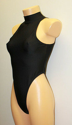 High Collar Women's Thong Leotard Studio White Shark Size S Choose Your Color