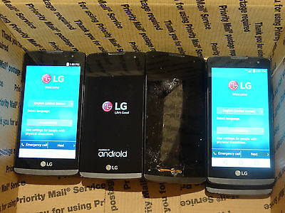 Lot of 9 LG Power L22c Tracfone Smartphones All Power On AS-IS