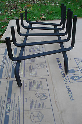 """New Large 29"""" ½"""" Steel Fireplace Log Holder Tall Grate"""