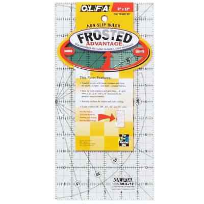 "Olfa Non Slip Frosted Ruler - 6"" x 12"""
