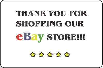 """200 Count  Thank You For Shopping Our Ebay Store Stickers   2"""" x 3"""""""