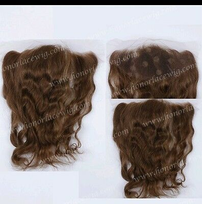 """8A 13x2 ear to ear lace frontal closure Medium Brown colour 4 in 16"""""""