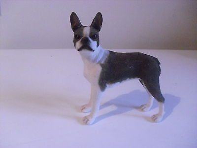 Leonardo Boston Terrier, Brown And White, Good Condition Displayed Only