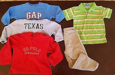 Lot of 5 Boy's Toddler Clothing Size 3T