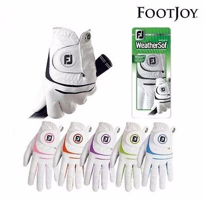 FootJoy WeatherSof Women Ladies Golf Glove Left & Right Hands Pair 5 Colors
