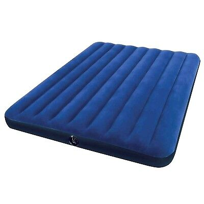 "Intex Classic Downy Airbed Queen Blue 60""x80""x9"""