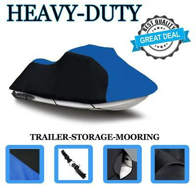 BLACK/BLUE Honda Aquatrax F12X 2002-2007 Jet Ski Watercraft Cover
