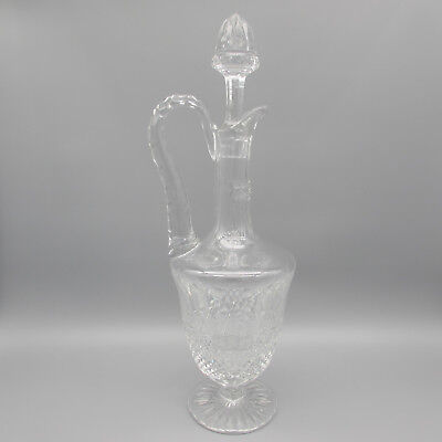 St Louis Crystal TOMMY Footed Handled Wine Decanter