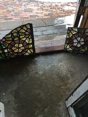 Sg 1183 Pair Of Tiffany Chunk Jewel Fragment Stainglass Window