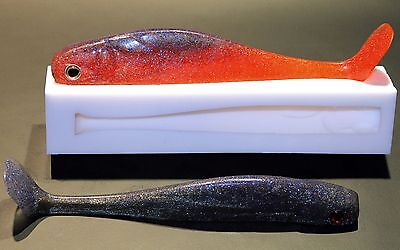 Soft Plastic Fishing Bait Lure Mould (Mold) Swim Bait 8""