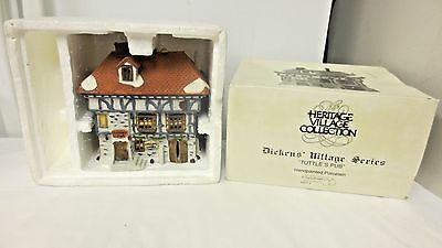 1986 Dept 56 Dickens' Village Shops Tuttle's Pub-porcelain Hand Painted-Boxed