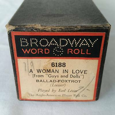 Pianola Piano Roll A Woman In Love From Guys And Dolls BROADWAY 6188 - 040