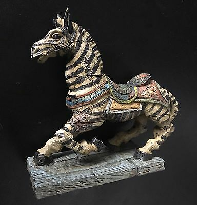 "NEW Vintage Looking Carousel Art Zebra Resin 5"" Figurine FREE SHIPPING!"
