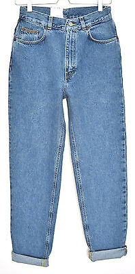 NEW Vintage Calvin Klein High Waisted Blue SLIM TAPERED MOM Jeans Size 8 10 12
