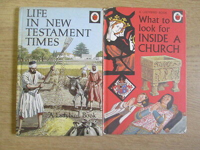 2 x Ladybird Series 649 1.  What To Look For Inside A Church - P. J. Hunt.  2. L