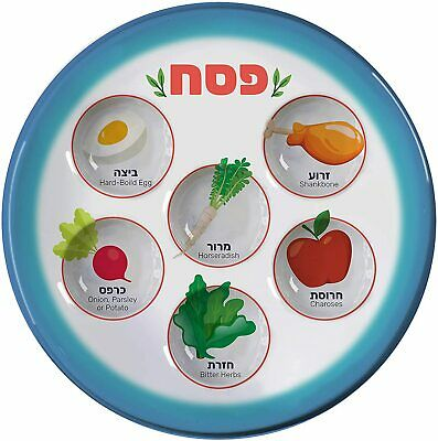 disposable Passover pesach seder plate for children