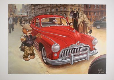 Affiche Offset Blacksad La Buick Rouge Bruno Graff Editions