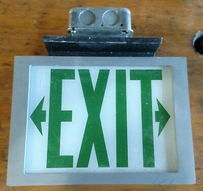 "Reclaimed Vintage Industrial MC Philben Manufactured lit ""EXIT"" sign. Hospital"