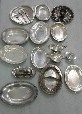 Lot Of 19 Silverplate Items Trays,chargers Etc..