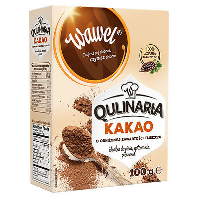 Wawel Fat Reduced Cocoa Powder, Dukan, Atkins, Sugar Free, Low Carb, Low Fat