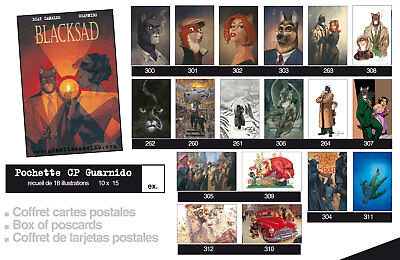 Portfolio Blacksad Guarnido, Blacksad (cartes postales)