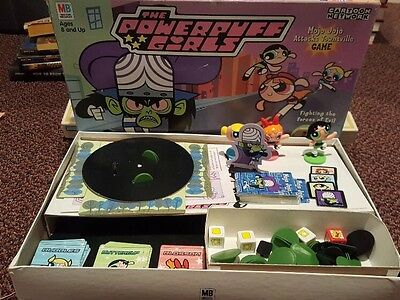 Powerpuff Girls Board Game Cartoon Network Mojo Jojo Attacks Townsville COMPLETE
