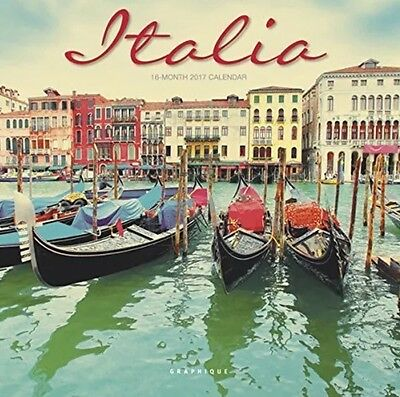 "Graphique 2017 Italia 7"" x 7"", Mini Wall Calendar MY65117"