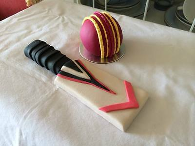 Edible Cricket and accessory Cake Topper Decorations