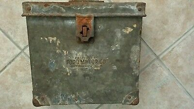 Vintage Property of Ford Motor Co Factory Detroit USA Heavy Metal Box Chicago