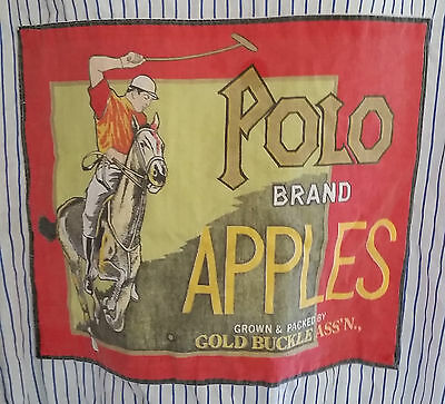 Vtg Gold Buckle Assn Shirt Polo Brand Apple Packing San Bernardino California L
