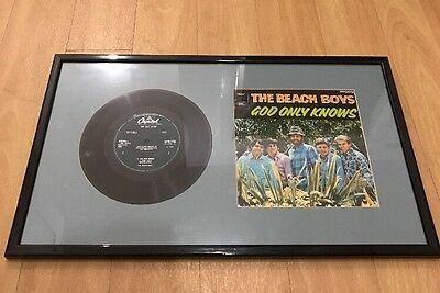 "Beach Boys 7"" EP Vinyl Record God Only Knows Professionally Framed Picture"