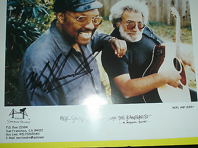 Merl Saunders signed Photo w/ Grateful Dead's Jerry Garcia Autograph
