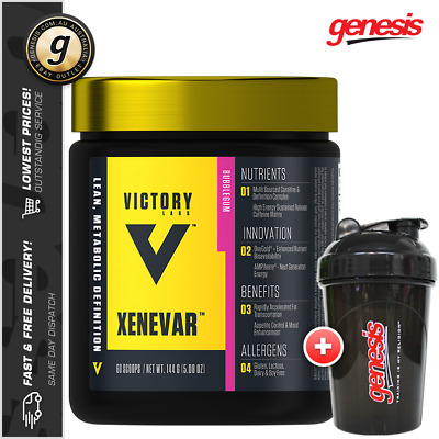 Victory Labs Xenevar *30 Serve* Thermogenic Fat Burner Energy + Free Shaker!