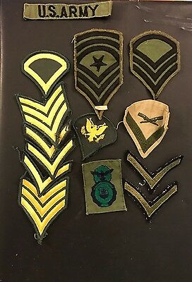 Vintage Military Us Army Misc. Chevron Patches.