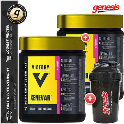 2x Victory Labs Xenevar *30 Serve* Thermogenic Fat Burner + Free Shaker!