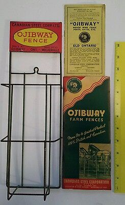 """Rare Canadian (Ojibway & Walkerville Ont) """"ojibway Farm Fences"""" Display/booklets"""