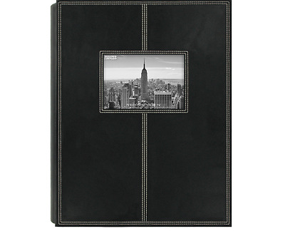 Pioneer Sewn Photo Album Leather 300 Black Frame Photos Leatherette Cover Bonded