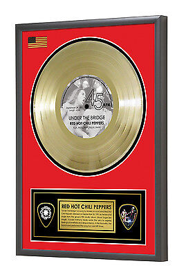 Red Hot Chili Peppers Under the Bridge Framed Gold Disc Display Vinyl (45rpm)