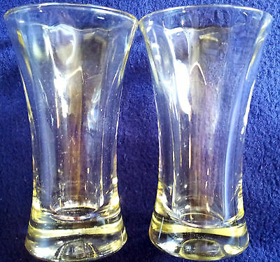 4oz..Vintage BEER GLASSES...A Pr. of VINTAGE ... Early 1900s - As New Condition