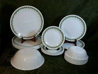 Vintage Corelle Corning ware Crazy Daisy Spring Blossom 28 pieces Dinnerware Set
