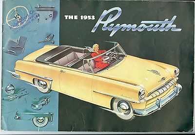 Colorful 1953 Plymouth Automobiles Brochure, 28 Pages, Foldout Middle