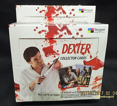 DEXTER Seasons 1 and 2,  Factory Sealed Trading Card BOX