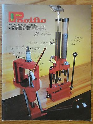 1981 Hornady Pacific Metallic & Shotshell Reloading Tools & Accessories Catalog