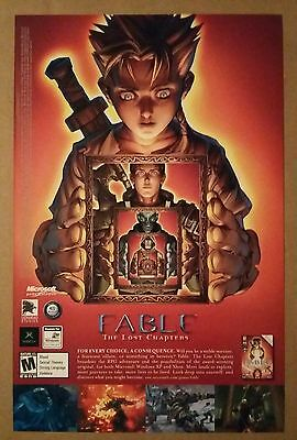 2005 Fable The Lost Chapters Video Game promo ad