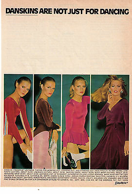 """1977 Danskins Are Not Just For Dancing """"Working Out & Stepping Out"""" Print Advert"""