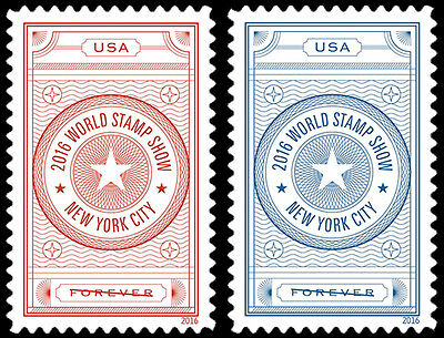 5062-63 World Stamp Show- NY Set Of 2 US Postage Stamps Mint/nh (A-77)